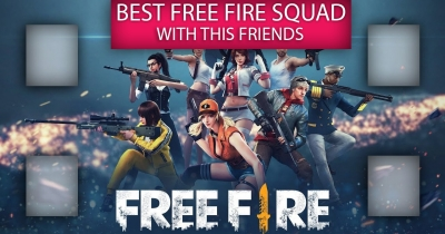 BEST FREE FIREE SQUAD WIHT THIS FRIENDS.