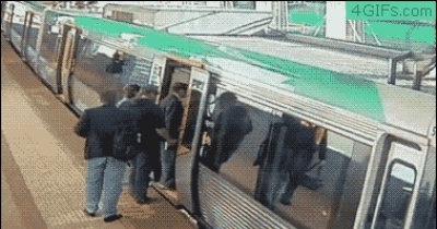 Crowd Pushes Train To Rescue