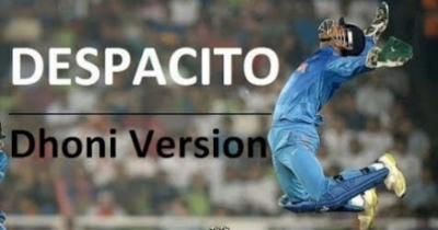Despacito song feat m.s dhoni.