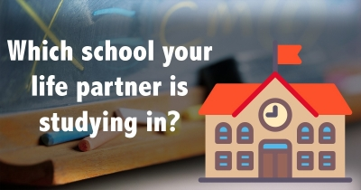 Find out which school your life partner is studying in now?