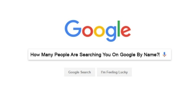 How Many People Are Searching You On Google By Name ?