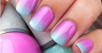 how to do Ombre  nail art at home