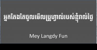LangdyFun: who follow my profile every day