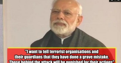 Narendra Modi strong reply to terrorists, agressive modi spe