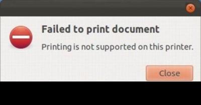 Printer fails