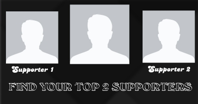 Find your top 2 supporters without whome you are nothing..