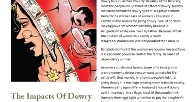 The impacts of dowry in Bangladesh