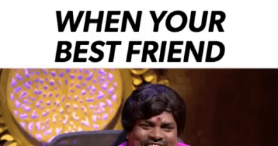 When your best friend scolds you!
