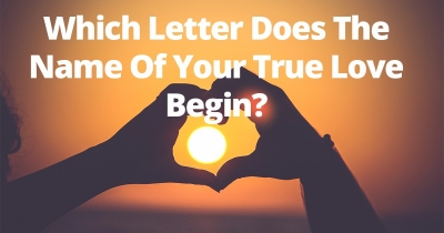 Which Letter Does The Name Of Your True Love Begin?
