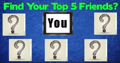 Your top 5 friend on Facebook